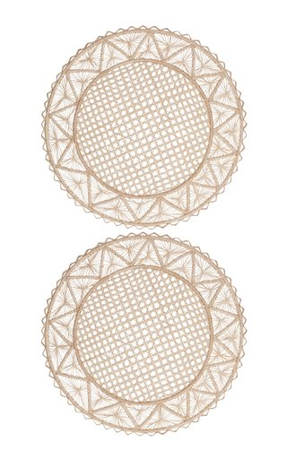Set Of 2 Circular Natural Placemat