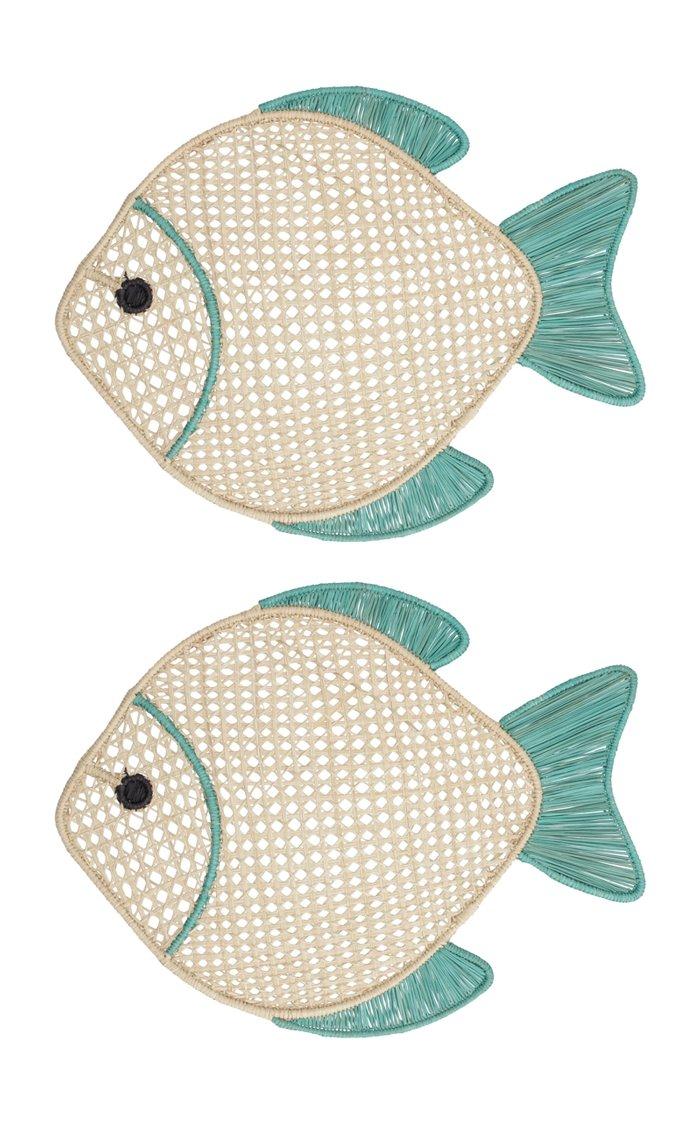 Set of 2 Fish Placemat
