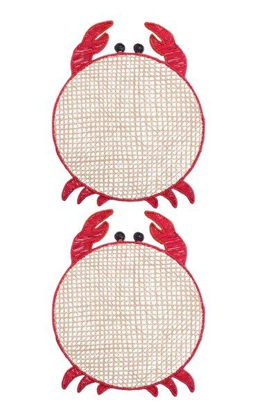 Set Of 2 Crab Placemat