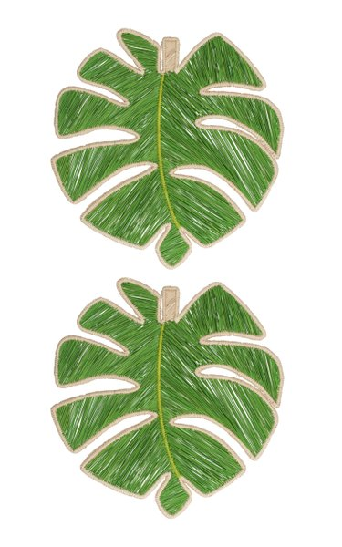 Set Of 2 Leaf Placemat