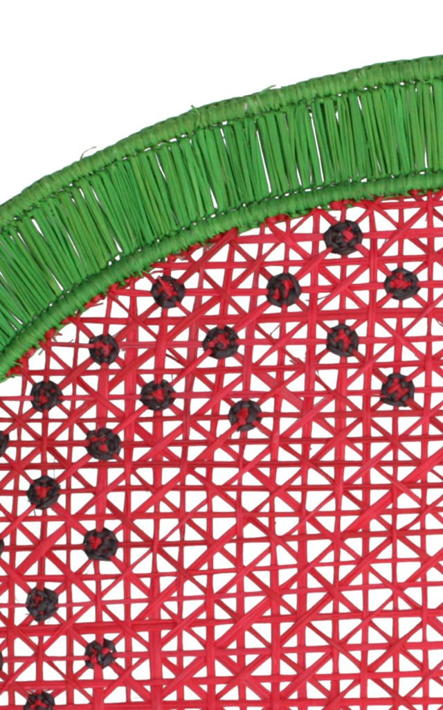 Set Of 2 Watermelon Oval Placemat