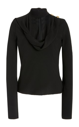 Specialorder-Grace Draped Crepe Top-HBW