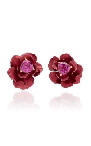 Ruby 18K Gold Vermeil Sapphire Earrings