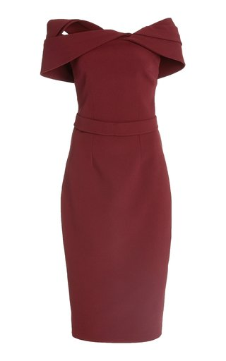 Exclusive Rosa Heavy-Crepe Midi Dress
