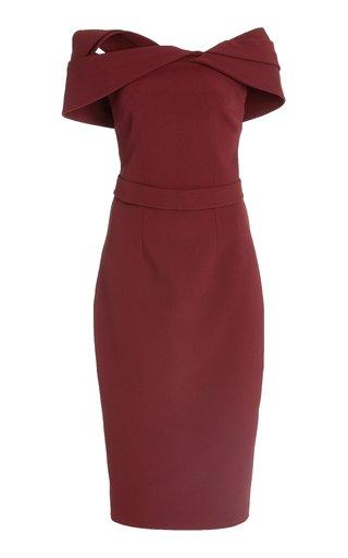 Exclusive Rosa Heavy-Crepe Midi Dress