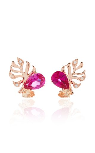 18K Rose Gold Vermeil And Multi-Stone Earrings