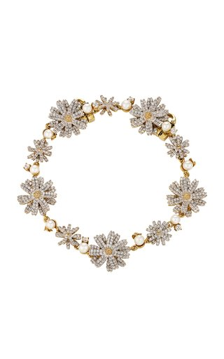 18K Gold Vermeil, Diamond And Pearl Bracelet