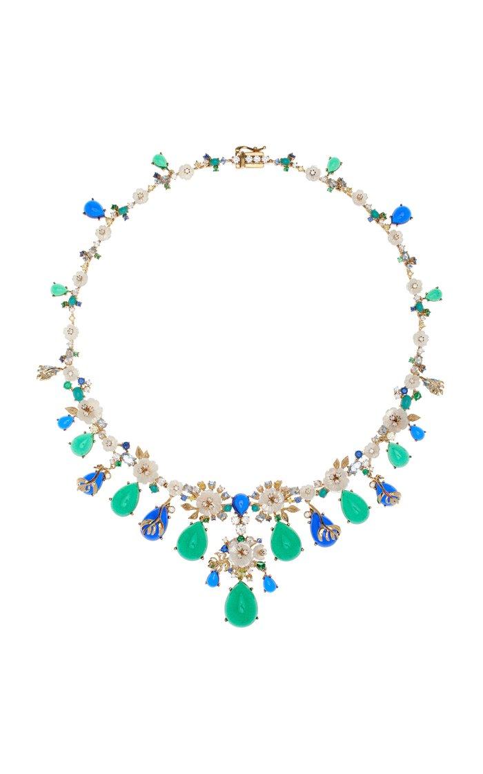 Paradise Emerald 18K Gold Vermeil Necklace