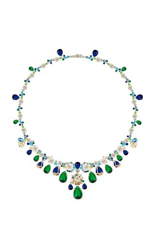 Paradise Emerald 18K Gold Vermeil Necklace
