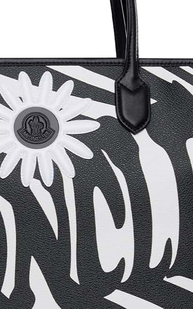 8 Moncler Richard Quinn Exclusive Zebra-Print Canvas Tote