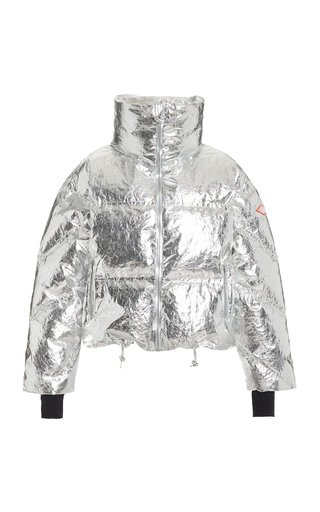 Mont Blanc Metallic Down Puffer Coat