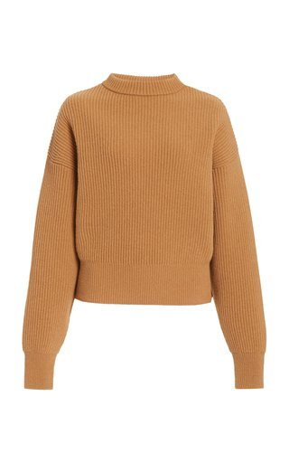 Megeve Ribbed-Knit Wool Sweater