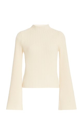 Solitude Ribbed-Knit Wool-Cashmere Top