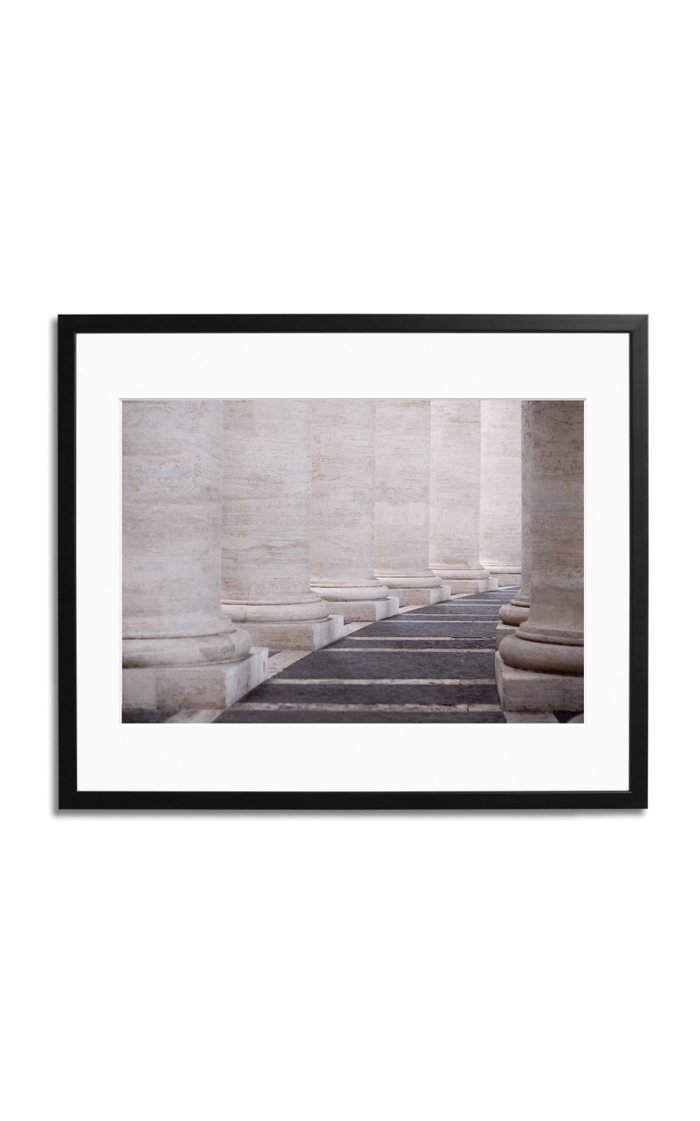 A Walk in The Vatican Framed Photography Print