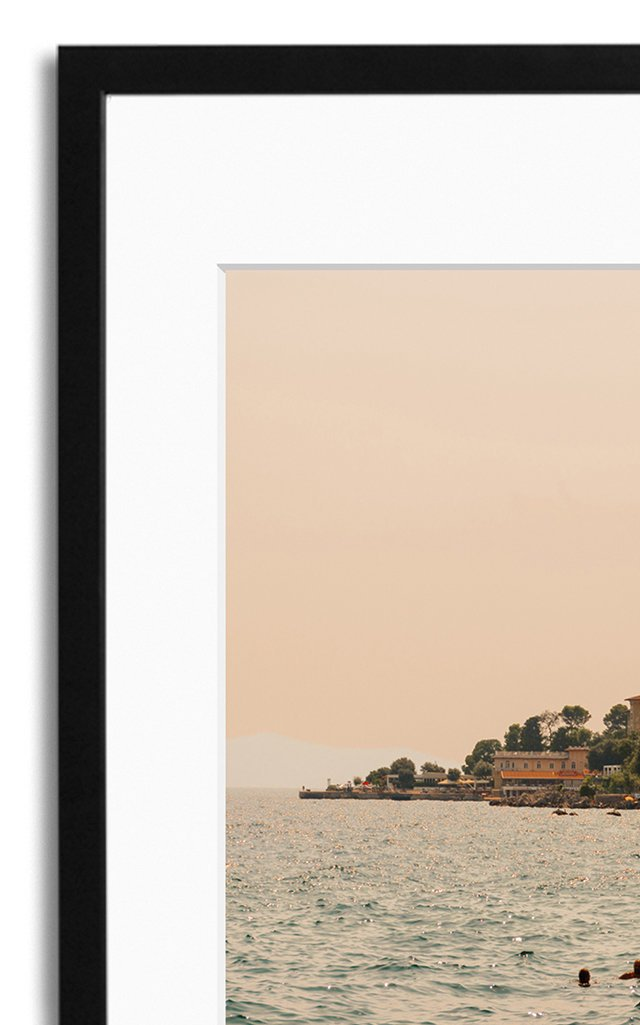 Summer Dive, Istria Framed Photography Print