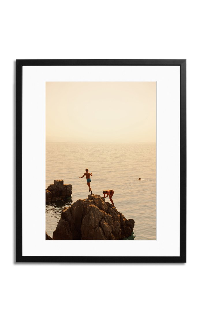 Playing By The Sea Framed Photography Print