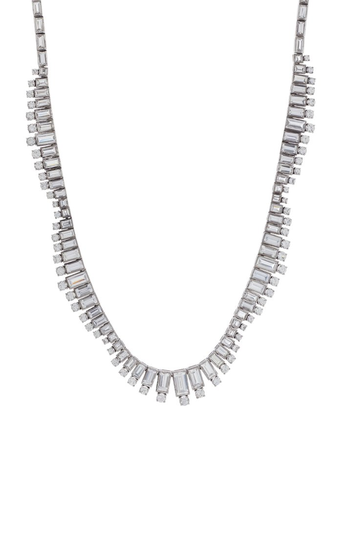 Riviera 18K White Gold Sapphire Necklace