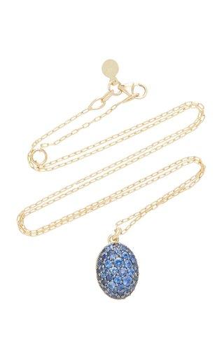 Milky Way 14K Gold Blue Sapphire Necklace