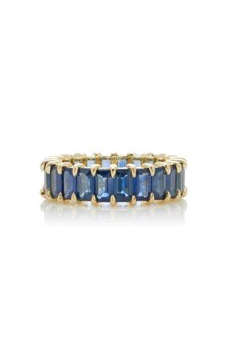 Harper 14K Gold Blue Sapphire Ring