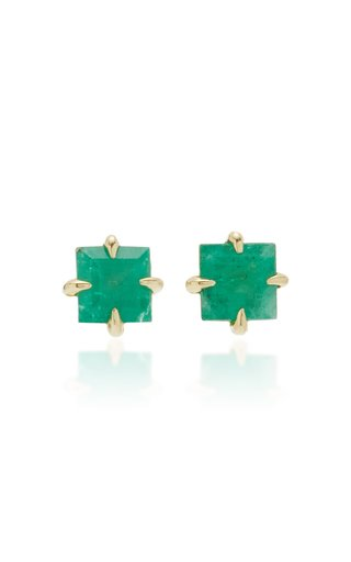 Primary Princess 14K Gold Emerald Stud Earrings