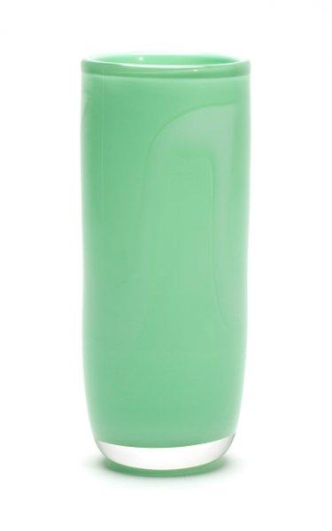Mint & White Stroke Cylinder Vase