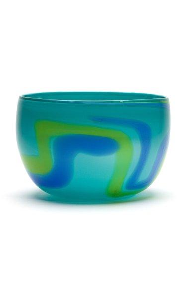 Teal,Yellow & Blue Stroke Bowl