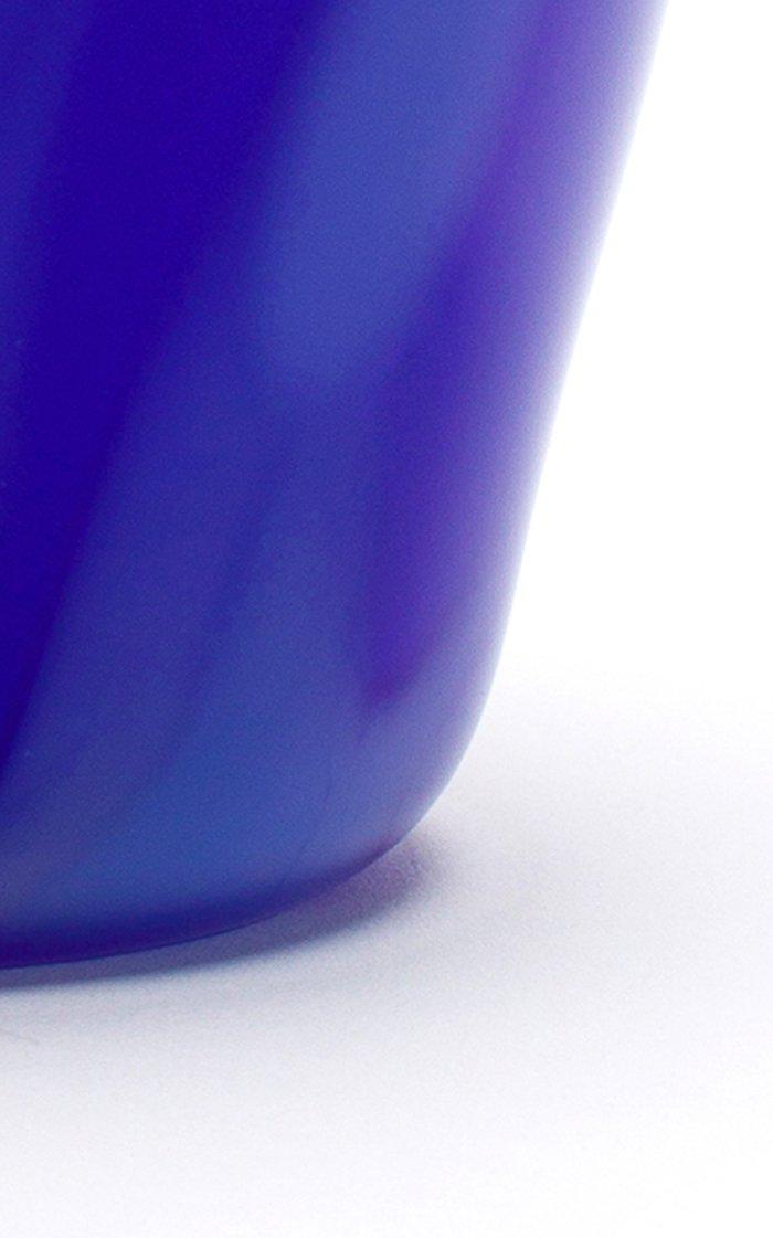 Blue & Powder Blue Stripe Vas