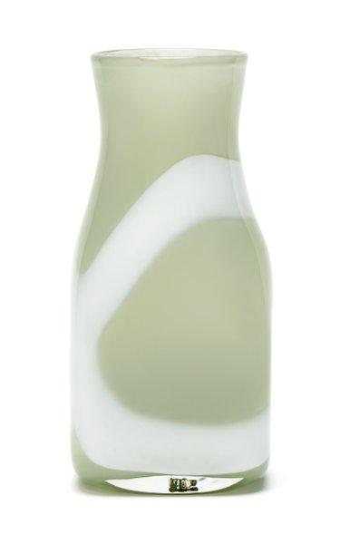 Jade Green & White Stroke Vase