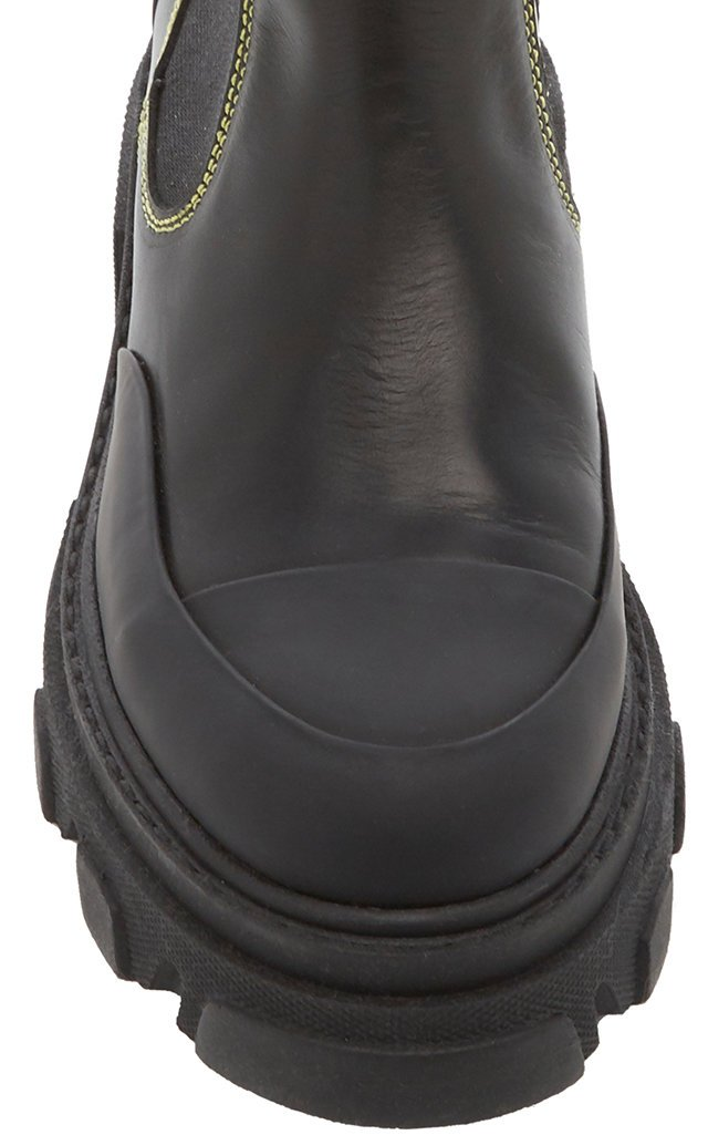 Lug-Sole Leather Ankle Boots