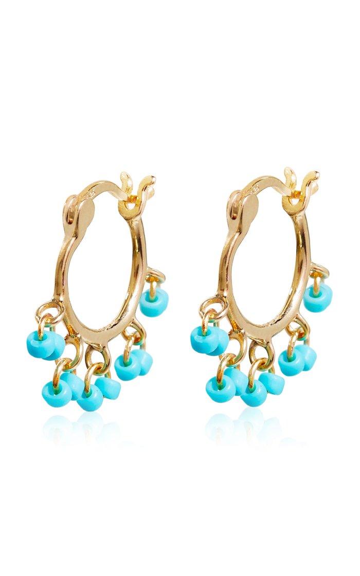 Gold-Vermeil Beaded Cha-Cha Earrings