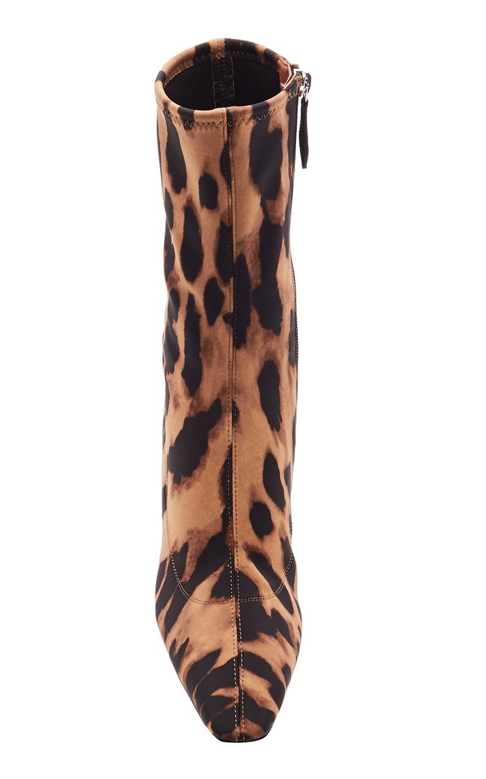 Hannah Leopard-Printed Jersey Ankle Boots