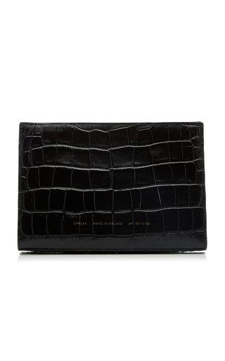 Mini Croc-Effect Leather Tote Bag