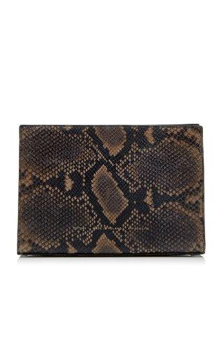 Mini Python-Effect Leather Tote Bag