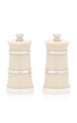 Ivory Silver Salt and Pepper Grinder Set