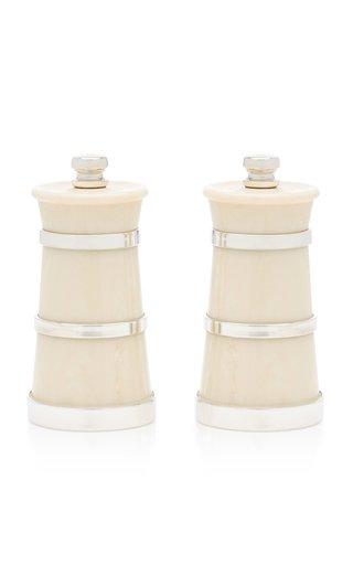 Ivory Silver Salt and Pepper Grinder Set