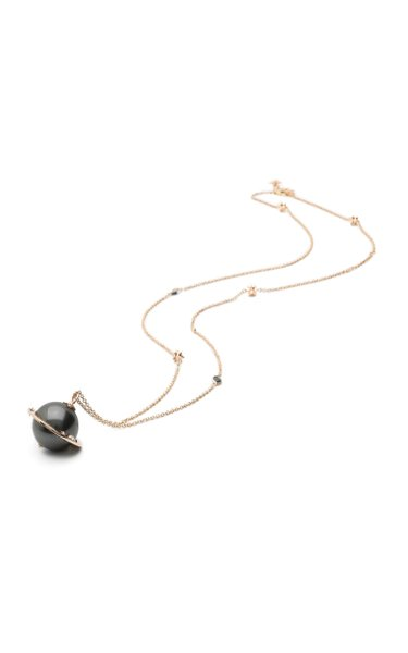 Big Planet 18K Rose Gold And Multi-Stone Necklace