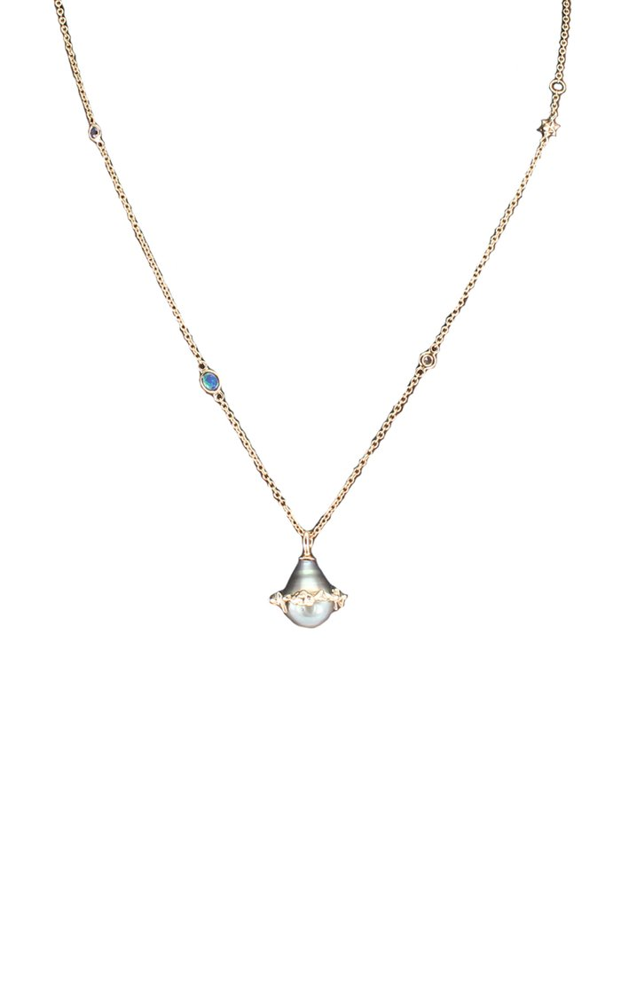 Orb 18K Rose Gold And Multi-Stone Necklace