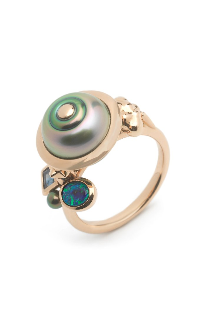 Planet 18K Rose Gold And Multi-Stone Ring