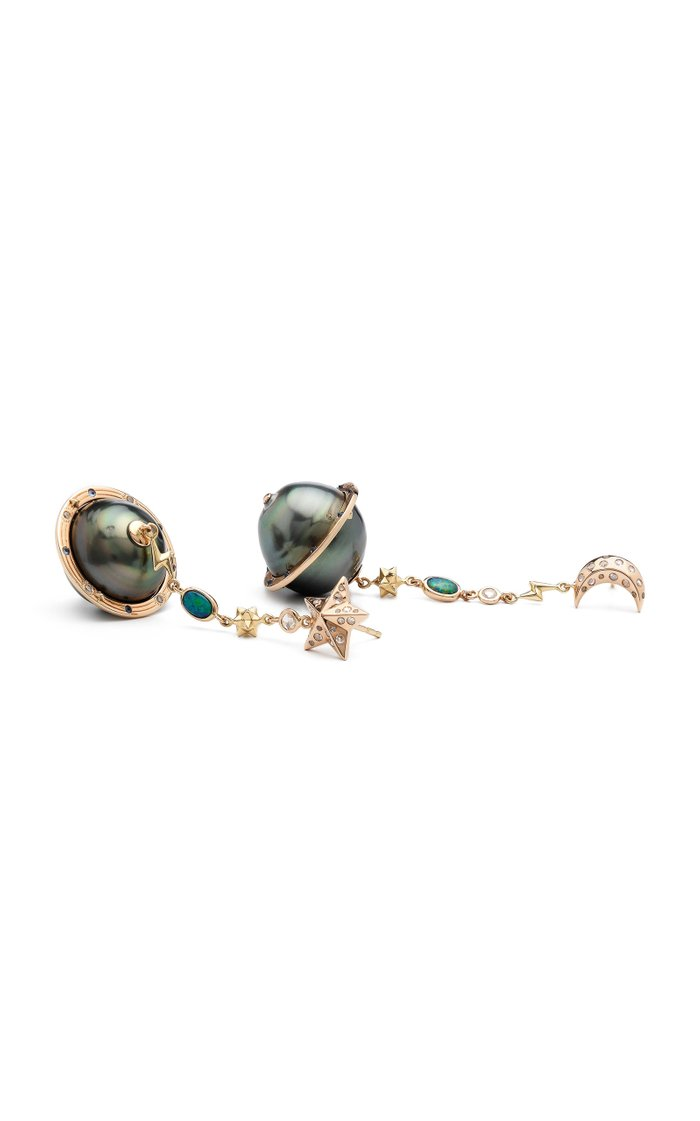 Planet 18K Rose Gold And Multi-Stone Earrings