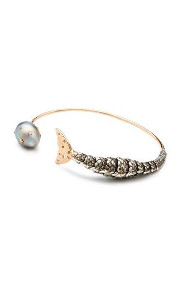 Mermaid 18K Rose Gold, Sterling Silver And Multi-Stone Bracelet