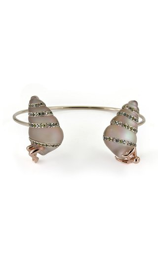 Shell 18K White And Rose Gold And Multi-Stone Bracelet
