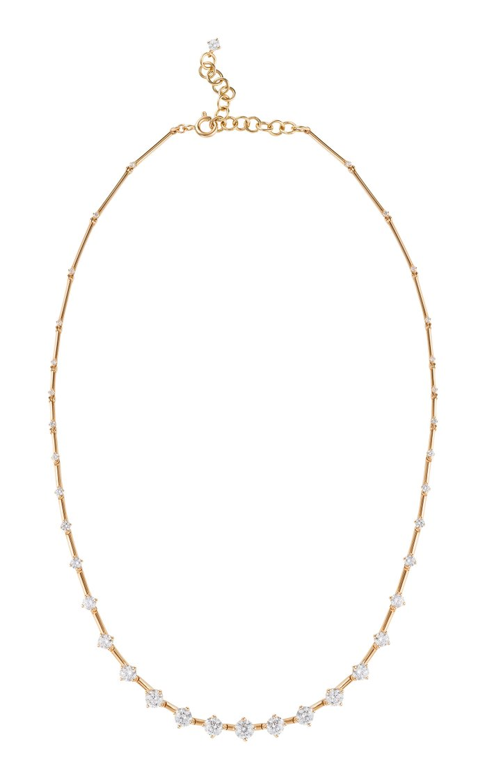 Sequence Diamond 18K Yellow Gold Necklace