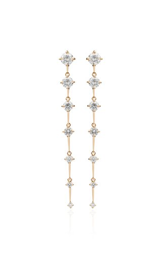 Sequence Medium Diamond 18K Yellow Gold Earrings