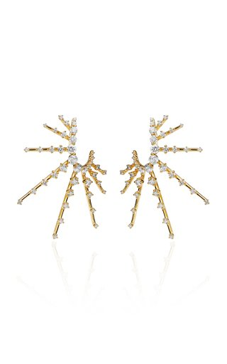 Radiant Diamond 18K Yellow Gold Earrings