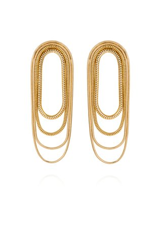 Multi-Chain 18K Yellow Gold Earrings