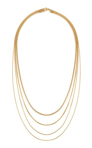 Multi-Chain 18K Yellow Gold Necklace