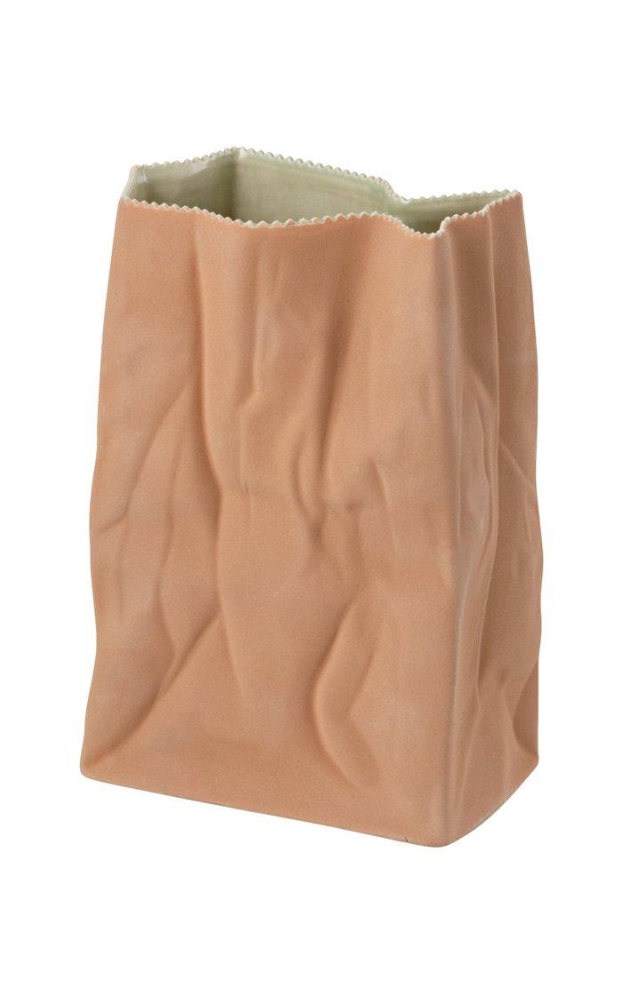 XL Porcelain Paper Bag Vase, 28cm