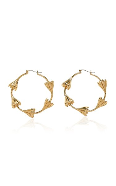 Multi Anemone 14K Gold-Plated Hoops