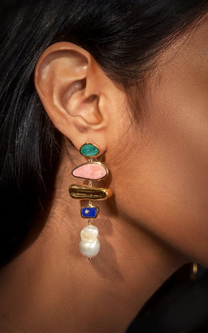 Palma 14K Gold-Plated Earrings