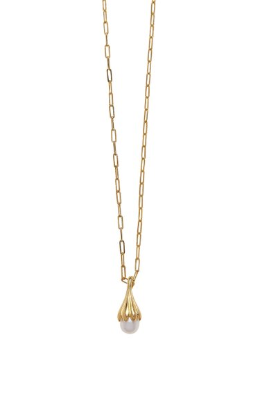 Anemone Pearl 14K Gold-Plated Pendant